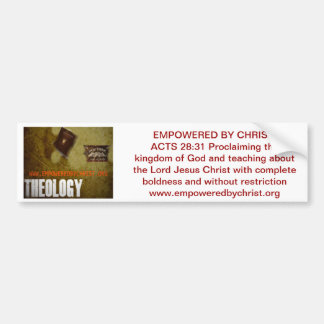 Autorizado por Cristo Etiqueta De Parachoque