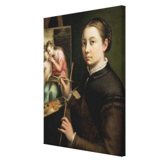 Autorretrato, 1556 lienzo envuelto para galerías