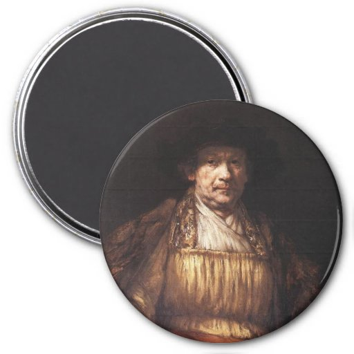Autorretrato 1658 imán redondo 7 cm