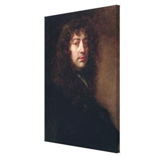 Autorretrato, 1665-70 (aceite en lona) impresión en tela