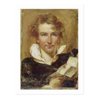 Autorretrato, 1823 (aceite en el documento sobre tarjetas postales