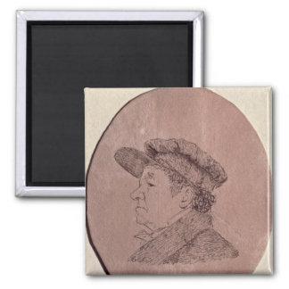 Autorretrato, 1824 imán cuadrado