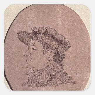 Autorretrato, 1824 pegatina cuadradas personalizadas
