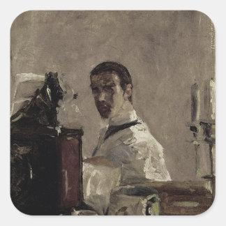 Autorretrato, 1880 pegatinas cuadradases personalizadas
