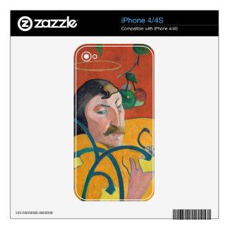 Autorretrato, 1889 (aceite en la madera) calcomanías para iPhone 4