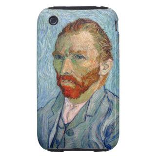 Autorretrato 1889 de Van Gogh Carcasa Though Para iPhone 3