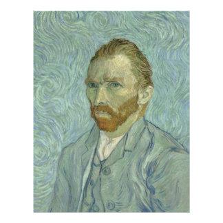 Autorretrato 1889 de Vincent van Gogh Flyer A Todo Color