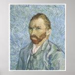 Autorretrato, 1889, Vincent van Gogh Poster
