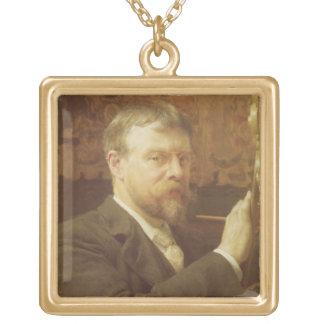 Autorretrato, 1897 (aceite en lona) colgante cuadrado