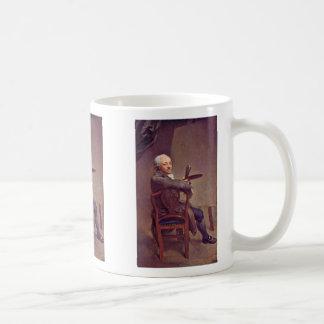 Autorretrato a la edad de 58 años tazas de café