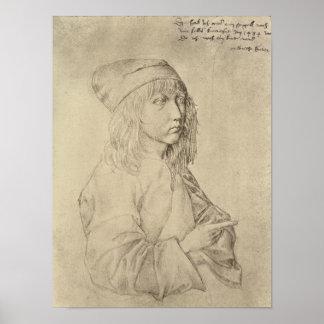 Autorretrato a la edad de trece, 1484 póster