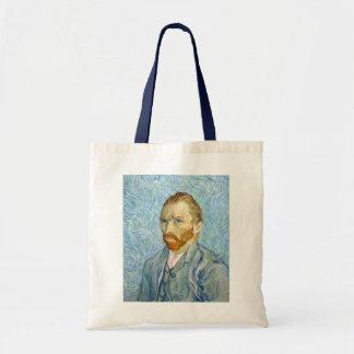 Autorretrato, bella arte de Vincent van Gogh Bolsa Tela Barata