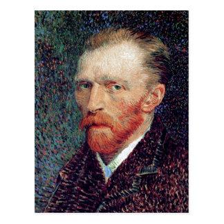 Autorretrato, bella arte de Vincent van Gogh Postal