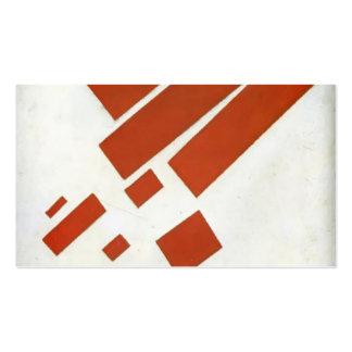 Autorretrato bidimensional de Kazimir Malevich- Tarjetas De Visita
