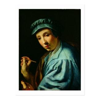 Autorretrato, c.1555 (aceite en el panel) postal