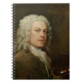 Autorretrato, c.1735-40 (aceite en lona) libreta