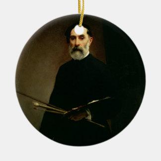 Autorretrato, c.1860-62 (aceite en lona) ornamento para arbol de navidad