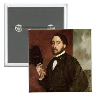 Autorretrato, c.1862 pin cuadrada 5 cm