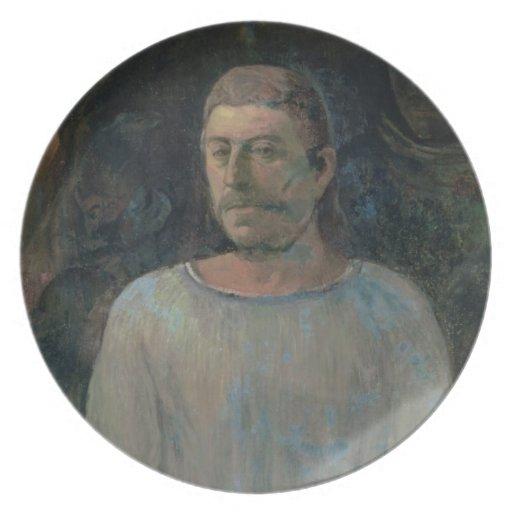 Autorretrato, cerca de Golgotha, 1896 (el aceite e Platos Para Fiestas