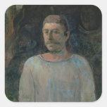Autorretrato, cerca de Golgotha, 1896 (el aceite Pegatina Cuadrada