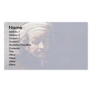 Autorretrato como el apóstol Paul. Por Rembrandt Tarjeta De Negocio