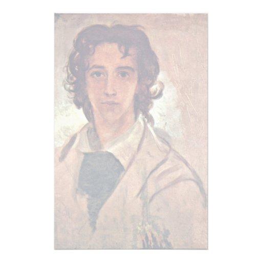 Autorretrato como hombre joven papelería personalizada