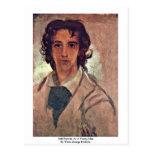 Autorretrato como hombre joven postal