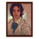 Autorretrato como hombre joven tarjetas postales