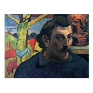 Autorretrato con Cristo amarillo de Gauguin Paul Postal
