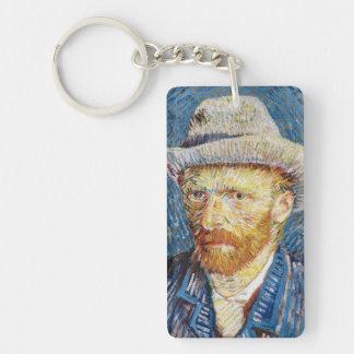 Autorretrato con el arte de Vincent van Gogh del s Llaveros