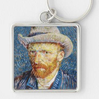 Autorretrato con el arte de Vincent van Gogh del s Llaveros Personalizados