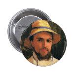 Autorretrato con el casco de Gustave Caillebotte Pin