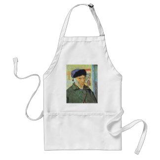 Autorretrato con el oído vendado; Vincent van Gogh Delantal