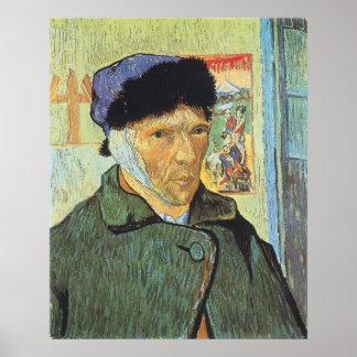 Autorretrato con el oído vendado; Vincent van Gogh Póster