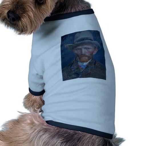 Autorretrato con el sombrero de fieltro gris ropa de perro