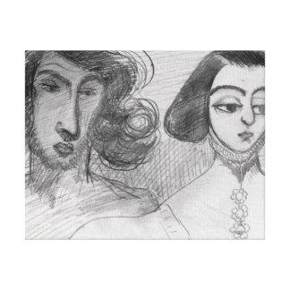 Autorretrato con George Sand Impresión En Lienzo