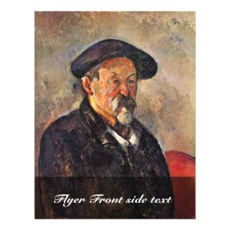 Autorretrato con la boina de Paul Cézanne Flyer Personalizado