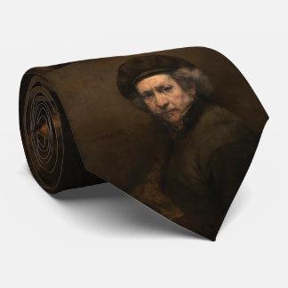 Autorretrato con la boina de Rembrandt Corbata Personalizada