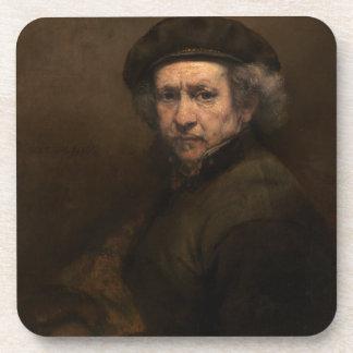 Autorretrato con la boina de Rembrandt Posavasos De Bebida