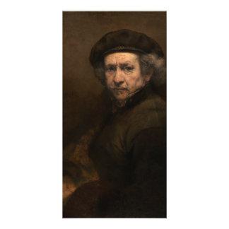 Autorretrato con la boina de Rembrandt Tarjetas Con Fotos Personalizadas