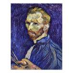 Autorretrato con la paleta de Vincent van Gogh Tarjetones