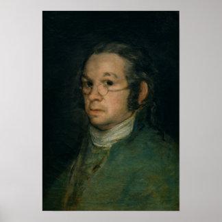 Autorretrato con las gafas, c.1800 póster