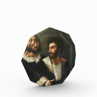 Autorretrato con un amigo por Raphael
