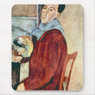Autorretrato de Amedeo Modigliani Alfombrillas De Ratón