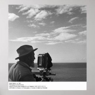 Autorretrato de Ansel Adams, CA 1967 Póster