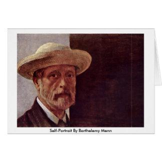 Autorretrato de Barthelemy Menn Tarjeta De Felicitación