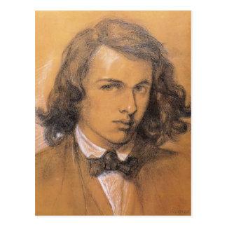 Autorretrato de Dante Gabriel Rossetti- Postales