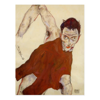 Autorretrato de Egon Schiele- en un justillo Postales