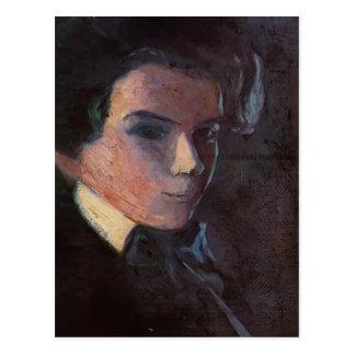 Autorretrato de Egon Schiele-, haciendo frente a l Tarjetas Postales