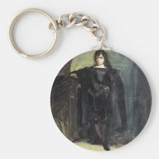 Autorretrato de Eugene Delacroix- como Hamlet Llavero Redondo Tipo Pin
